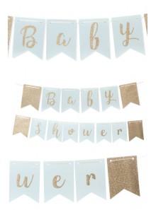 1 guirlande Baby Shower ciel