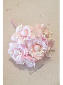 6 Fleurs de pivoine rose