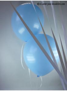 50 ballons bleu ciel biodégradables