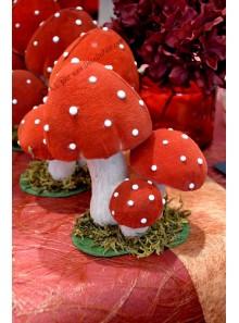 3 champignons amanites rouges 15cm