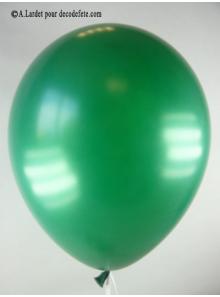 50 ballons vert anglais nacré