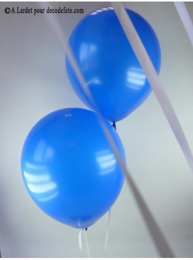 50 ballons bleu roi biodégradables