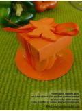 10 petits cubes transparent et orange