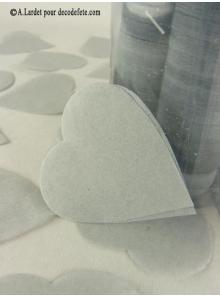 Confettis coeur gris