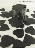 Confettis coeur noir