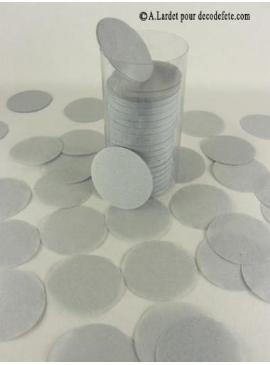 Confettis rond gris