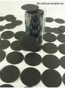 Confettis rond noir