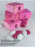 6 boites à secret rose fushia