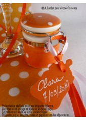 12 Etiquettes biberon orange