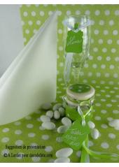 12 Etiquettes biberon vert anis