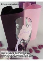 12 Etiquettes biberon rose
