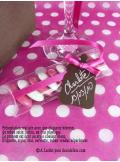 12 Etiquettes biberon chocolat