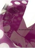 10 Assiettes fleur prune