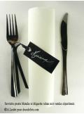 12 Etiquettes ruban noir