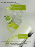 12 Etiquettes ruban vert anis