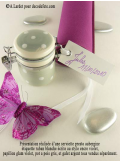 12 Etiquettes ruban blanc