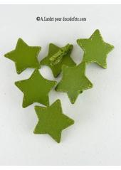 6 Pince étoiles star vert