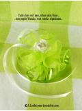 6 tulles Sissi vert anis