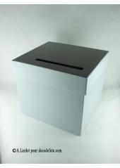 1 Urne carrée grise