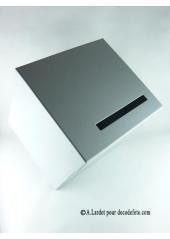 1 Urne tirelire carrée grise