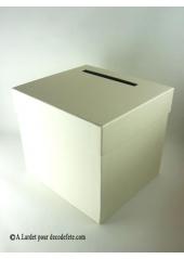 1 Urne tirelire carrée ivoire
