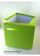1 Urne tirelire carrée vert anis