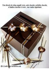 1 Urne carrée chocolat
