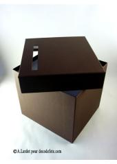 1 Urne tirelire carrée chocolat