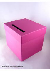 1 Urne carrée fushia