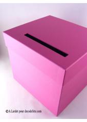 1 Urne  tirelire carrée fushia