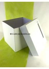 1 Urne carrée blanche