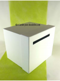 1 Urne tirelire carrée blanche