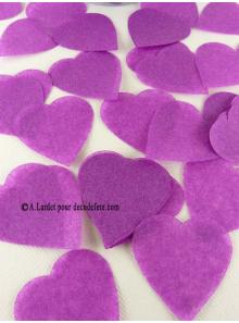 Confettis coeur aubergine