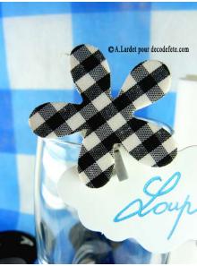 6 Pinces Vichy noir