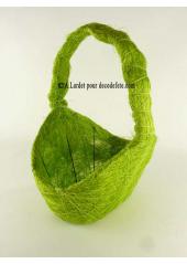 1 Panier sisal vert anis