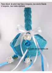 1 Panier sisal turquoise