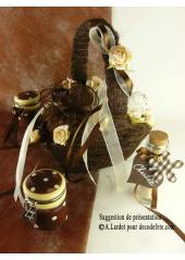 1 panier sisal chocolat