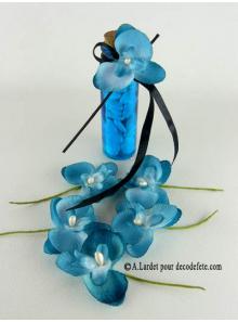 6 Petites Orchidées PERLE turquoise
