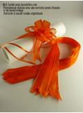 5 mini noeud organdi orange