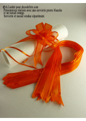 5 mini noeud organdi orange