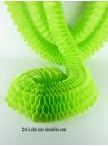 3 petites guirlandes boa vert anis