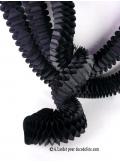 3 petites guirlandes boa noir