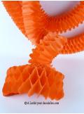 3 petites guirlandes boa orange