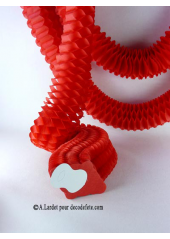3 petites guirlandes boa rouge