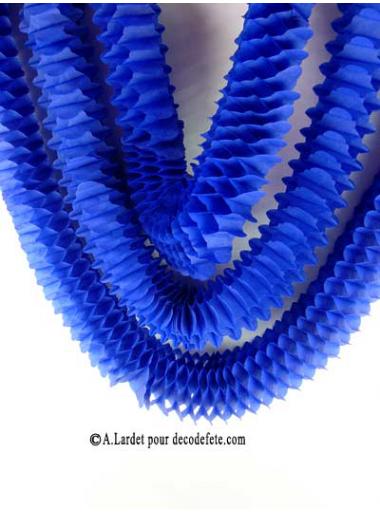 3 petites guirlandes boa bleu marine