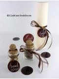 6 Ronds de NACRE chocolat