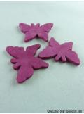 15 Papillons gomme fushia