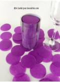 Confettis rond aubergine