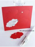 12 Etiquettes nuage ROUGE