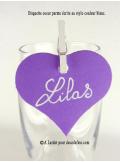 12 Etiquettes coeur LILAS/PARME